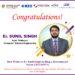 Congratulations! Er. Sunil Singh (Asst. Professor), CSE Department has filed a Patent.